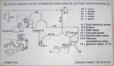 determining correct 1980 to 1985 diesel vacuum system hose mercedes-benz wiring diagrams mercedes benz vacuum diagram #14