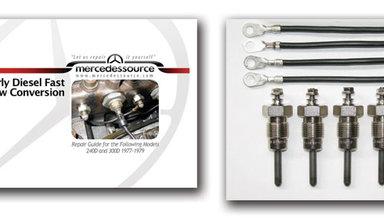 5 Cylinder Diesel Series to Pencil FAST Glow plug Conversion Kit