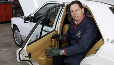Mercedes 201 Chassis Rear Door Panel Removal - On Demand Video Instruction
