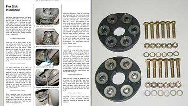 123 Front/Rear Driveline Flex Disc Kit (NON TURBO) new