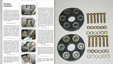 190E Driveline Flex Disk Kit with Instructions new