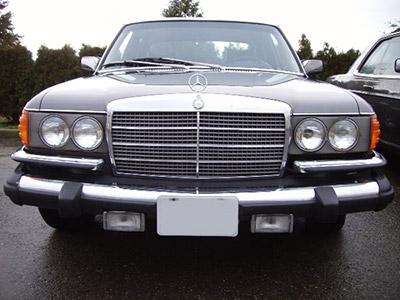 Mercedes W116 Front Bumper Rubbers 280S 280SE 280SEL 350SE 450SEL