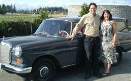 Kent and Kaia at Bergsma Motorwerks