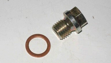 Diesel oil pan plug