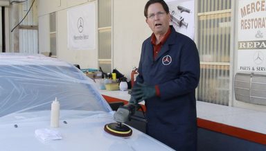 Prepping an older Mercedes for buffing and wax - On Demand Video