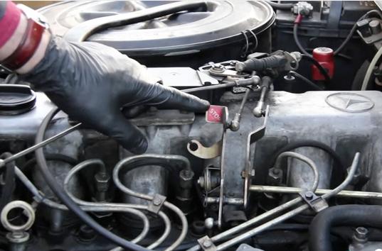 Mercedes 350sdl 300sd 300d 190d Diesel Shutoff Valve Kit on injection valve New