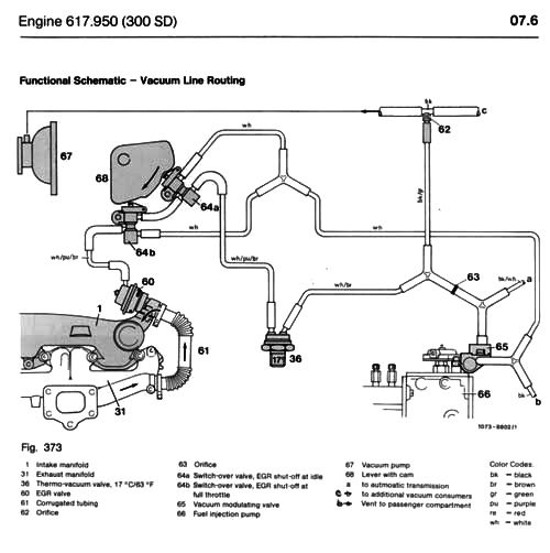 mercedes 240d vacuum diagram  mercedes  auto parts catalog