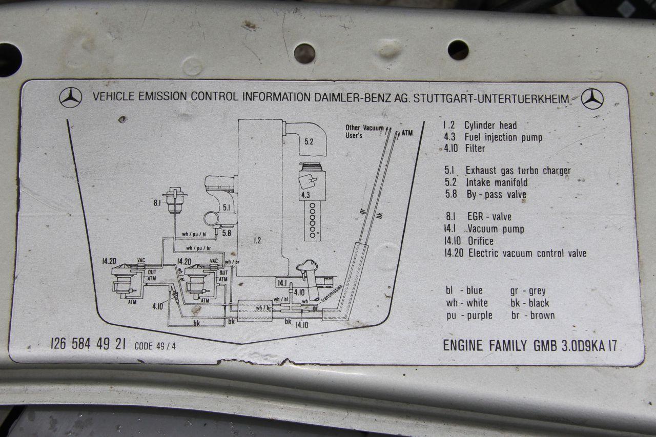 Img on 1987 Mercedes 300d Vacuum Diagram