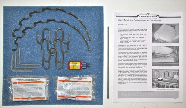 Lower front seat spring sag repair and restoration kit - Auto interior restoration products ...