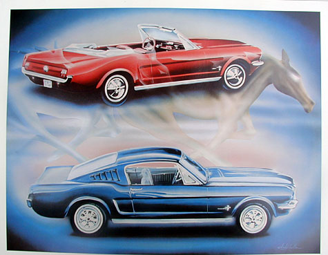 early ford mustang collector print accessories product. Black Bedroom Furniture Sets. Home Design Ideas