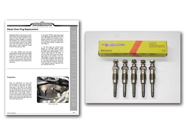 testing diesel engine glow plugs for proper operation electrical 300sd 300d 300cd td monark pencil glow plugs set of 5 instructions