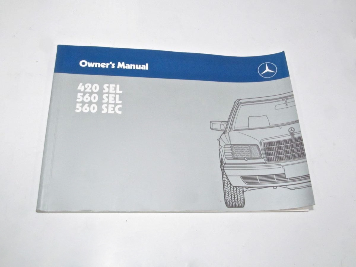 1986 to 1991 420SEL 560SEL 560SEC Factory Owners Manual | Factory Manuals  Product | MercedesSource.com