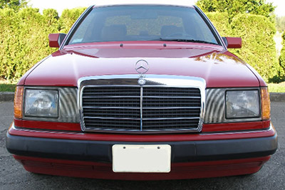 Dressing up the front end body and exterior trim problem for Mercedes benz 190e headlights
