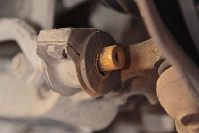 Worn Front Lower Sway Bar Bushings | Suspension Problem