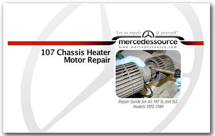 107 Heater Motor Repair Manual Only