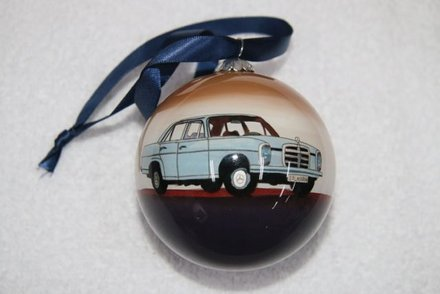 Mercedes benz glass christmas ornament accessories for Mercedes benz christmas ornament