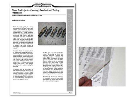 Diesel Injector Cleaning, Overhaul and Testing Procedures