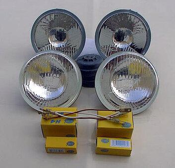 111, 108, 107, 116 Quad Hella H4 Headlights