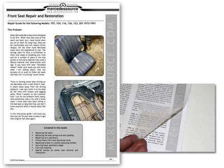 front seat repair manual by kent bergsma mercedessource manuals product. Black Bedroom Furniture Sets. Home Design Ideas