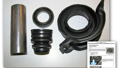 Early 107 and All 116 Chassis Driveline Center Support Overhaul Kit