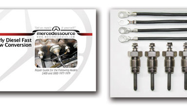 5 Cylinder Diesel Series to Pencil FAST Glow plug Conversion Kit