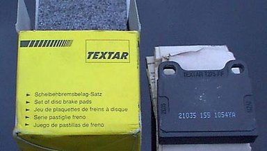Rear Textar Brake Pads