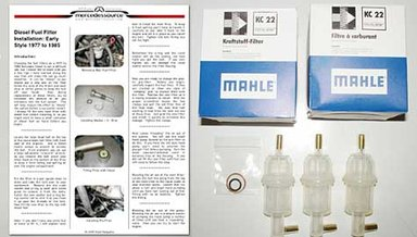 4 and 5 Cylinder Diesel Fuel Filter Kit 1977 to 1985 (2)